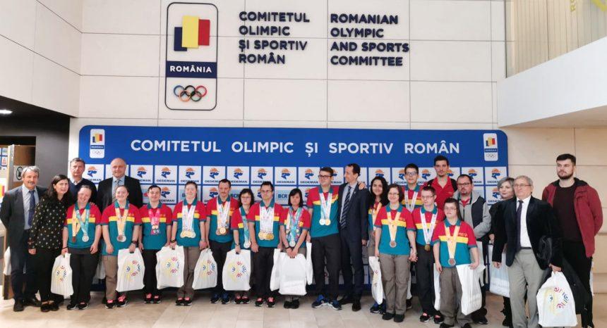 Bravii Special Olympics, felicitați de Mihai Covaliu, Președintele COSR