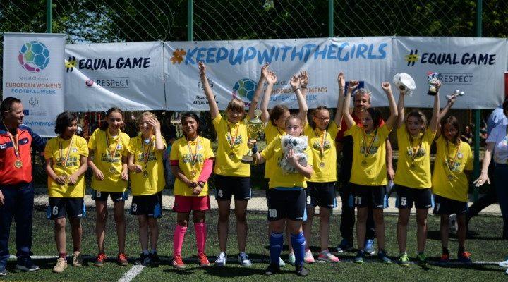 C.S.E.I Suceava, campioanele Săptămânii Europene a Fotbalului Feminin Special Olympics