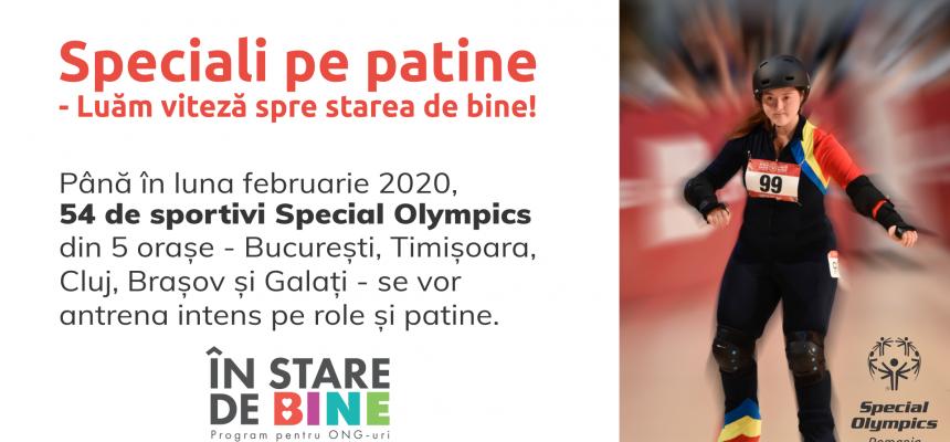 Speciali pe patine – luăm viteză spre Starea de Bine – noul program Special Olympics România