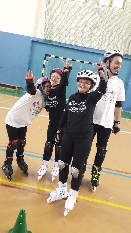 Cluj, Special Olympics Ro, Speciali pe patine