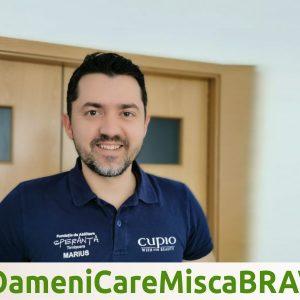 #OameniCareMiscaBRAVII – Marius Pârjol, kinetoterapeut și antrenor la Fundația de Abilitare Speranța