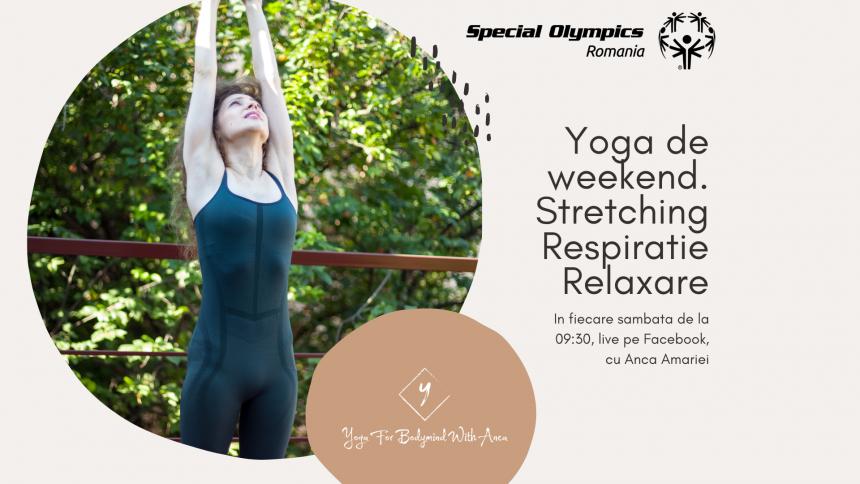 Dăm startul sesiunilor live de yoga în comunitatea Special Olympics România